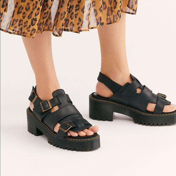 dr martens platform sandals